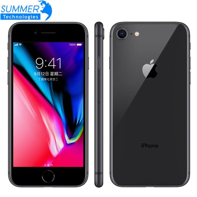 Original Entsperrt Apple iPhone 8 LTE Handy 4,7 12.0MP Hexa Core 2 GB RAM iOS Fingerprint Verwendet Smartphone