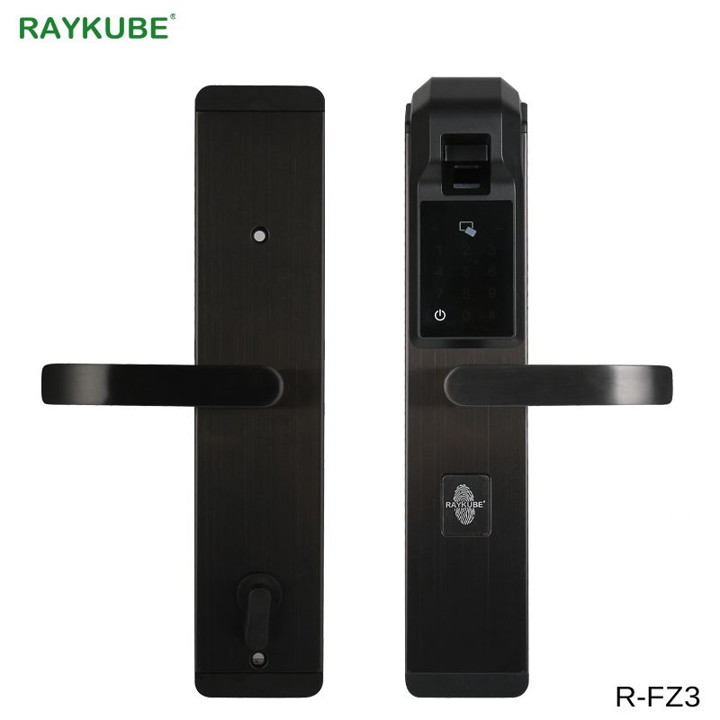 RAYKUBE Digit Fingerprint Door Lock Keyless Entry Smart Anti-theft Lock For Home Security With RFID Reader R-FZ3