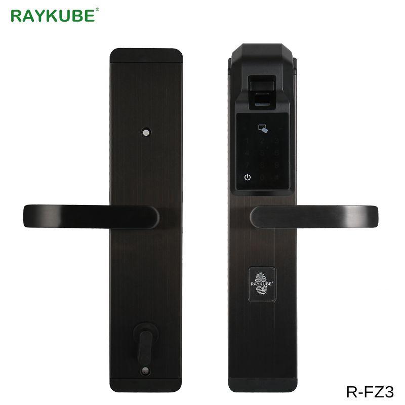 RAYKUBE Digit Fingerprint Türschloss Keyless Entry Smart Anti-theft Lock Für Home Security Mit RFID Reader R-FZ3