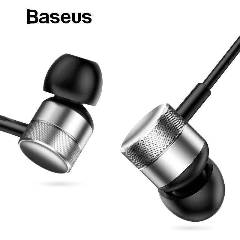 Baseus H04 Bass Sound Kopfhörer In-ohr Sport Kopfhörer mit mic für xiaomi iPhone Samsung Headset fone de ouvido auriculares MP3