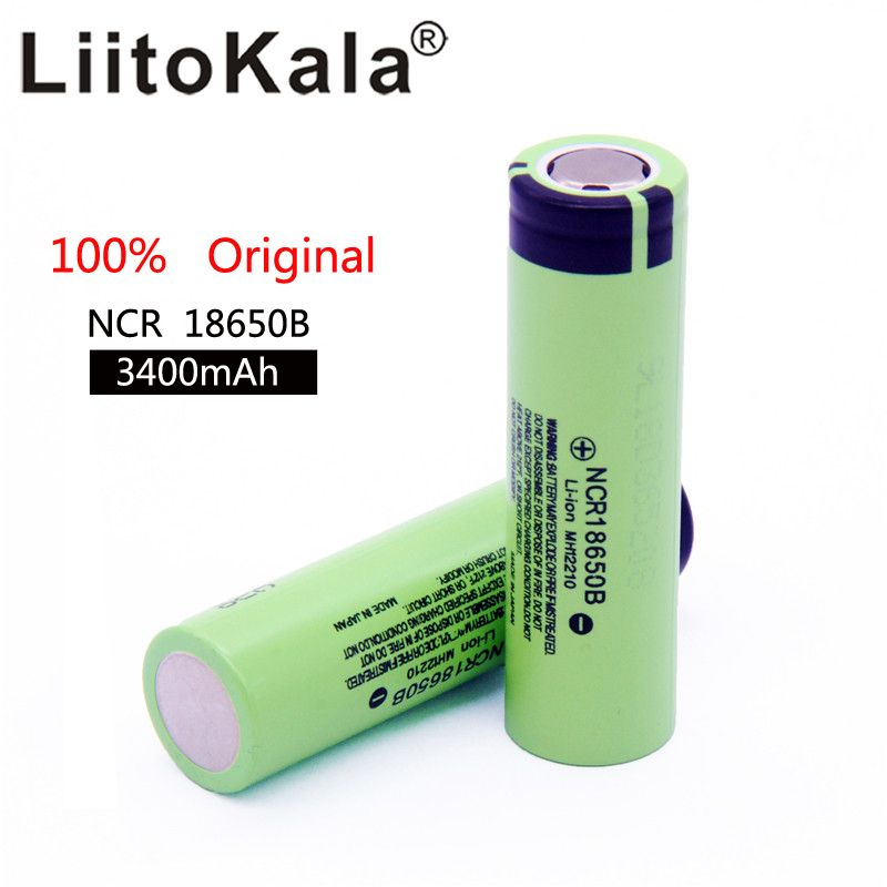 2018 liitokala original NCR18650B 3,7 v 3400 mah 18650 3400 mah für wiederaufladbare lithium-batterie