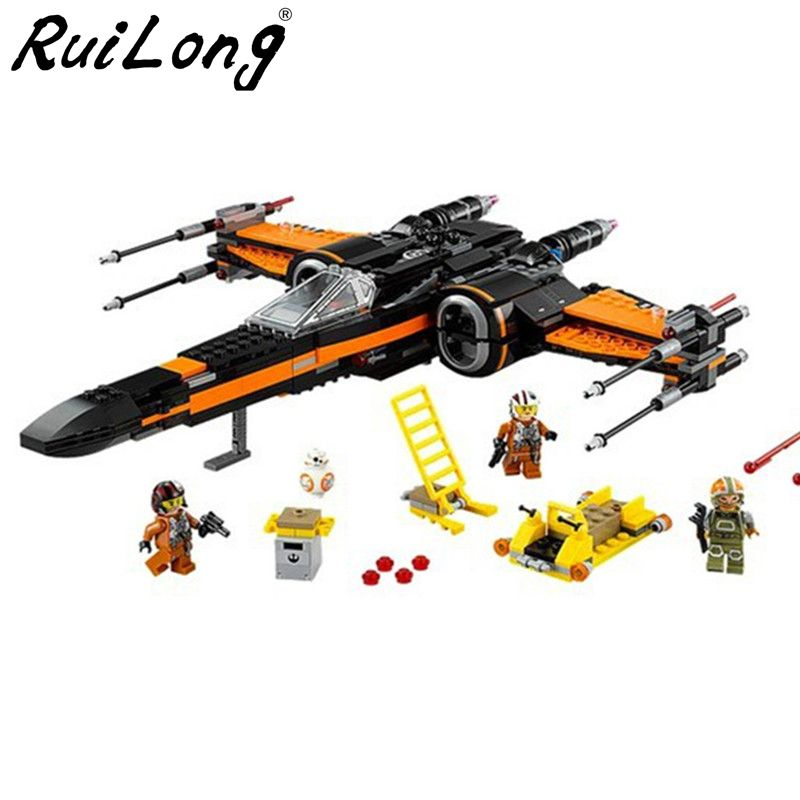 Star Wars Order Poe's X Toys wing Fighter Building Block Bricks 05005 75102 Educational Gift Compatible With LegoINGLY StarWars