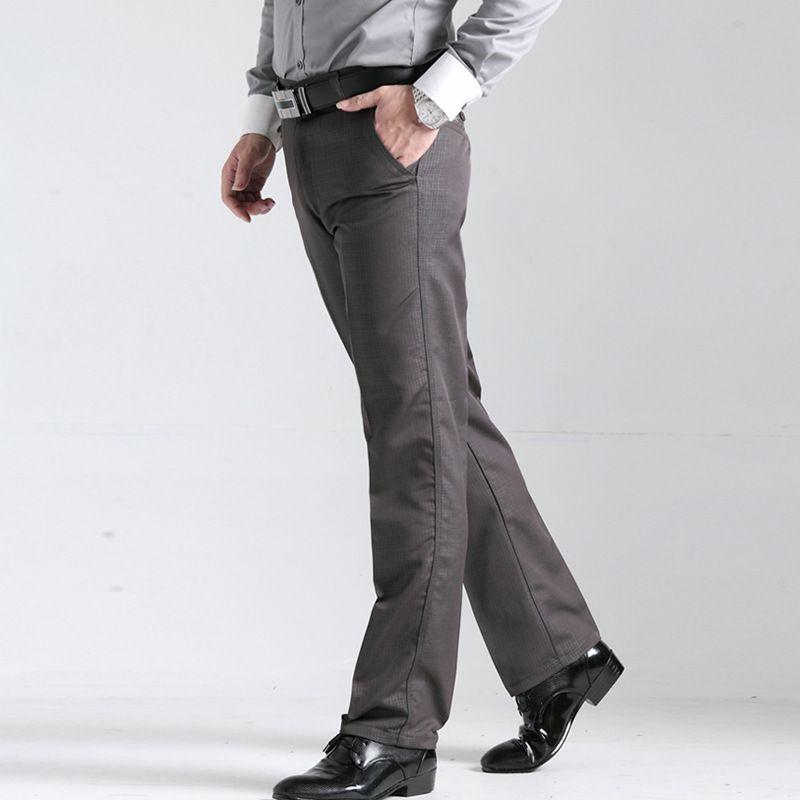 2018 hommes printemps automne pantalon prime marque fashion business loisirs Pantalon Kaki mâle grille travail profession lâche occasionnel pantalon