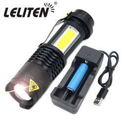4 Mode Mini Portable Bekerja Lampu 3800LM Q5 + Tongkol LED Senter Zoom Torchflashlight Hidup Lampu Lentera Menggunakan AA 14500 baterai