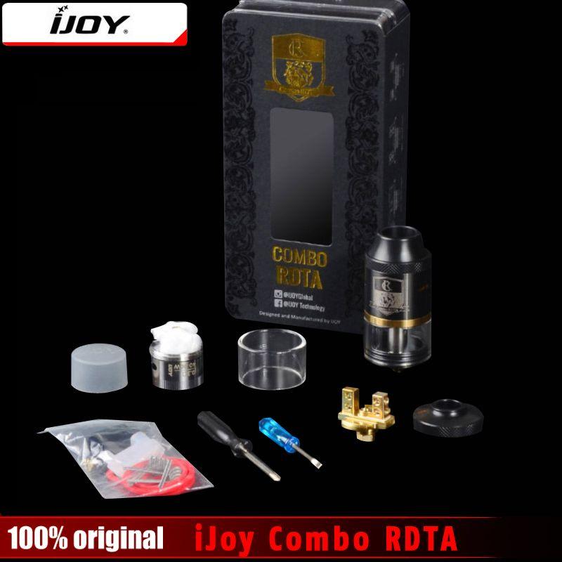 100% original IJOY Combo rdta RDA y Combo rdta 2 vape sub ohm tanque atomizador 6.5 ml e-jugo capacidad con sistema de llenado lateral