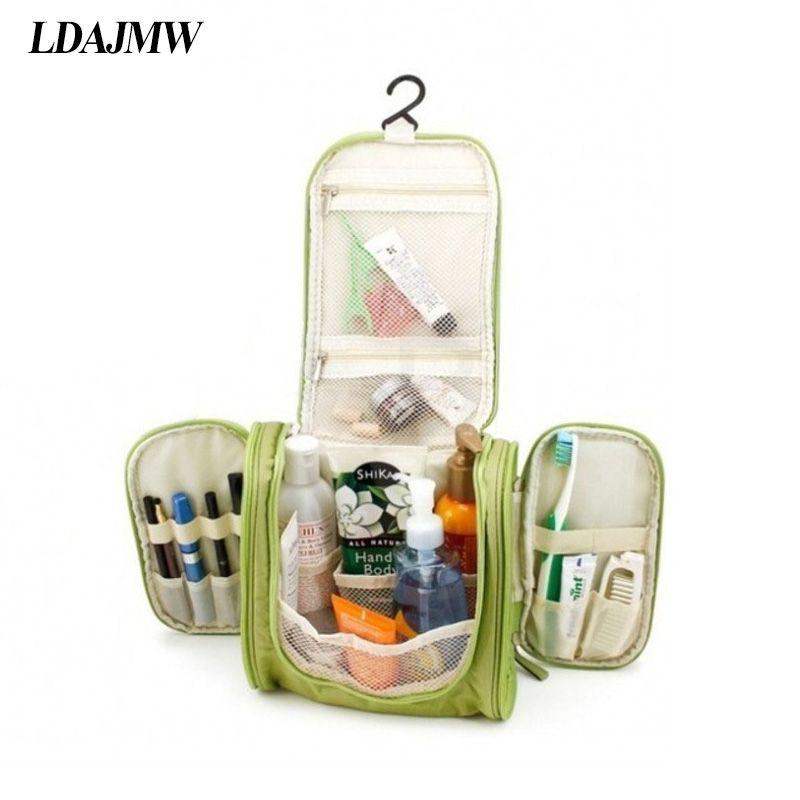 LDAJMW multifonctionnel maquillage sac de rangement femmes maquillage sac cosmétique étui trousse de toilette pochette organisateur suspendus voyage lavage sac