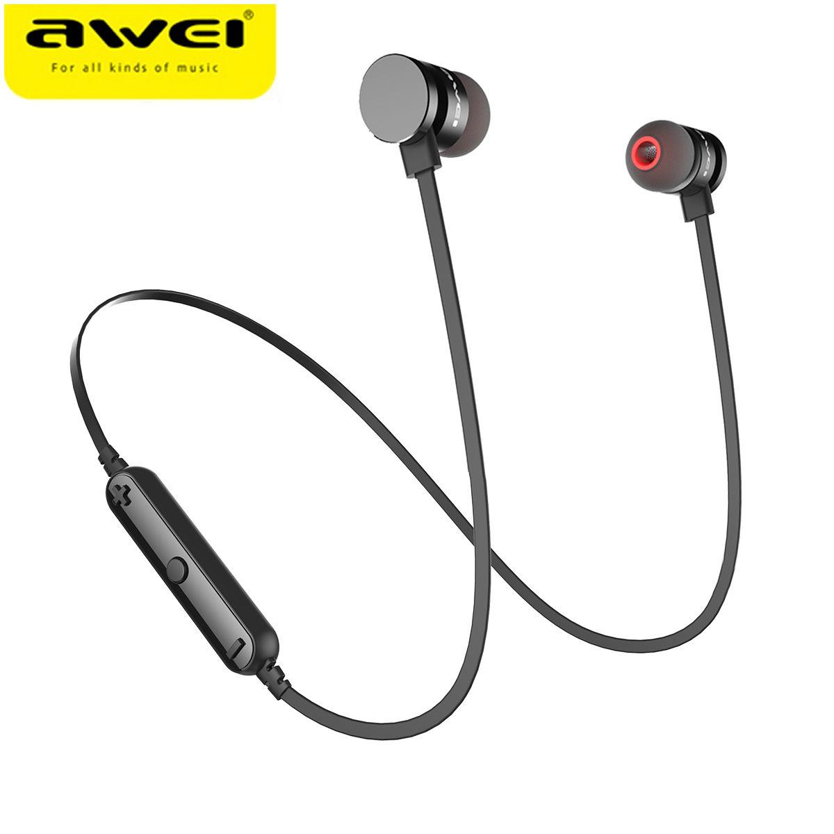 Newest AWEI T11 Wireless Headphone Bluetooth Headset Earphone Fone de ouvido <font><b>Sports</b></font> Music V4.2 Auriculares Bluetooth Casque