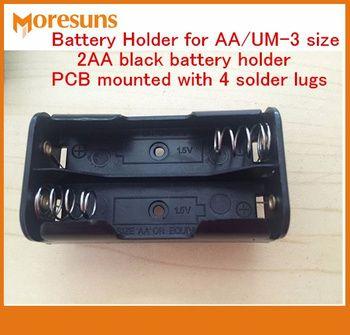 Rapide Bateau Libre 10 PCS Support De Batterie pour AA/UM-3 taille, 2AA Noir Support de Batterie PCB Monté 4 cosses à souder 4 * AA Batterie Titulaire