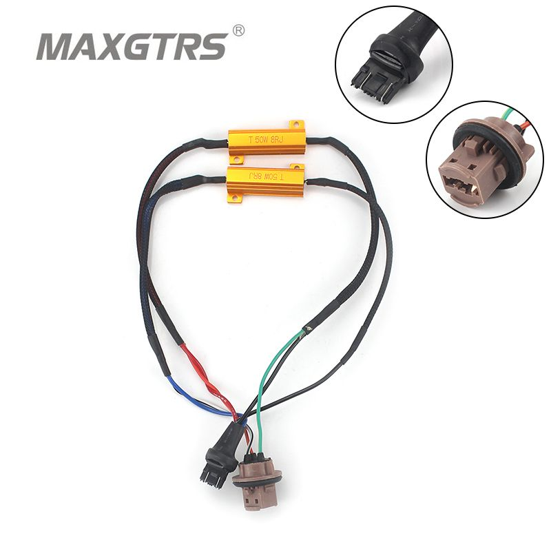 2x S25 T20 1156 BA15S 1157 7440 7443 3156 3157 50W Car LED Turn Singal Load Resistor Canbus Error Free Wiring Canceller Decoder