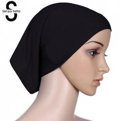 Senza Fretta Women Under Scarf Hat Cap Bone Bonnet Ninja Hijab Islamic Neck Cover Muslim Under Scarf Hijab Cap L10535