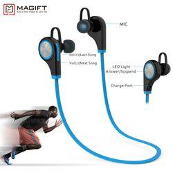 Magift6 спортивные bluetooth гарнитуры CSR4.1 Q9 Беспроводной наушники-вкладыши стерео наушники с микрофоном для iPhone7 плюс Android