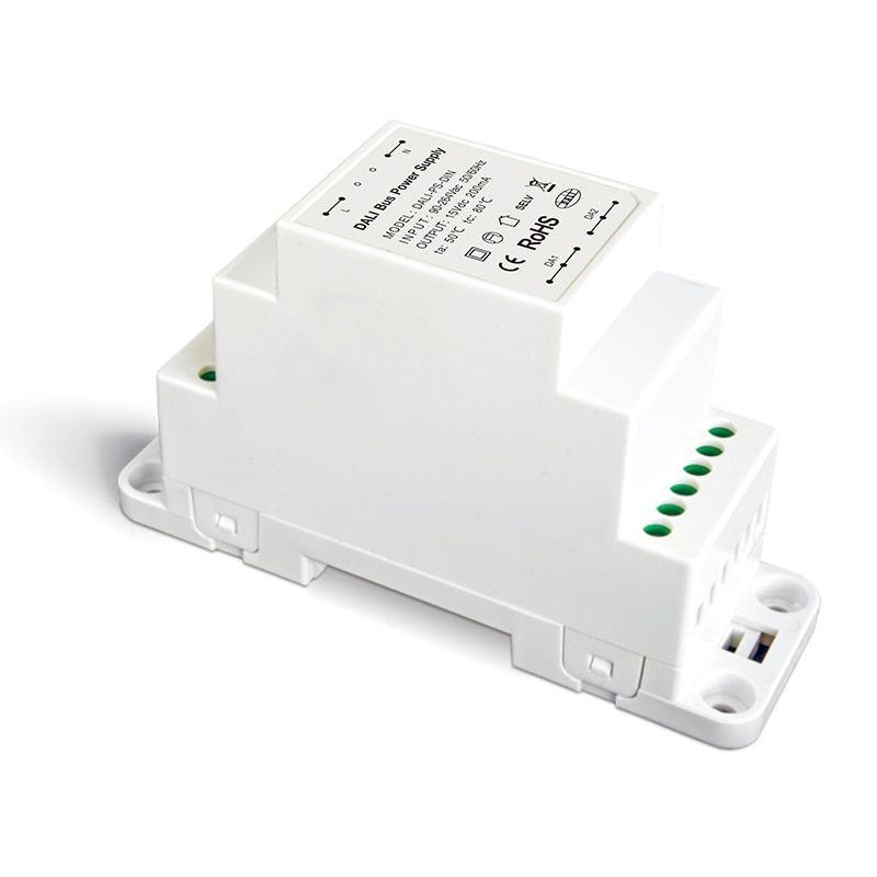 LTECH DALI Bus Power supply DALI-PS-DIN High Voltage 100-240VAC 50/60Hz input 200ma Output With DALI Touch Panel Dimmer