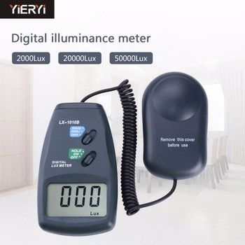 Digital Light Meter 3 range LX-1010B Digital Meter/Digital illuminance meter 0 - 50000 Lux photometer exposure remote control