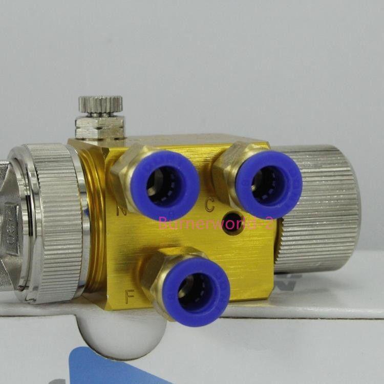 Livraison gratuite Japon Meiji A-100 Automatique Pneumatique Haute Atomisation Pulvérisation Peinture Pistolet De Pulvérisation hydraulique tête 0.8/1.0/1.3mm