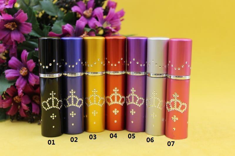 30pcs 5ml 0082 empty crown drill point electrochemical aluminum spray bottle/glass tank/perfume bottles sample subpackage tube