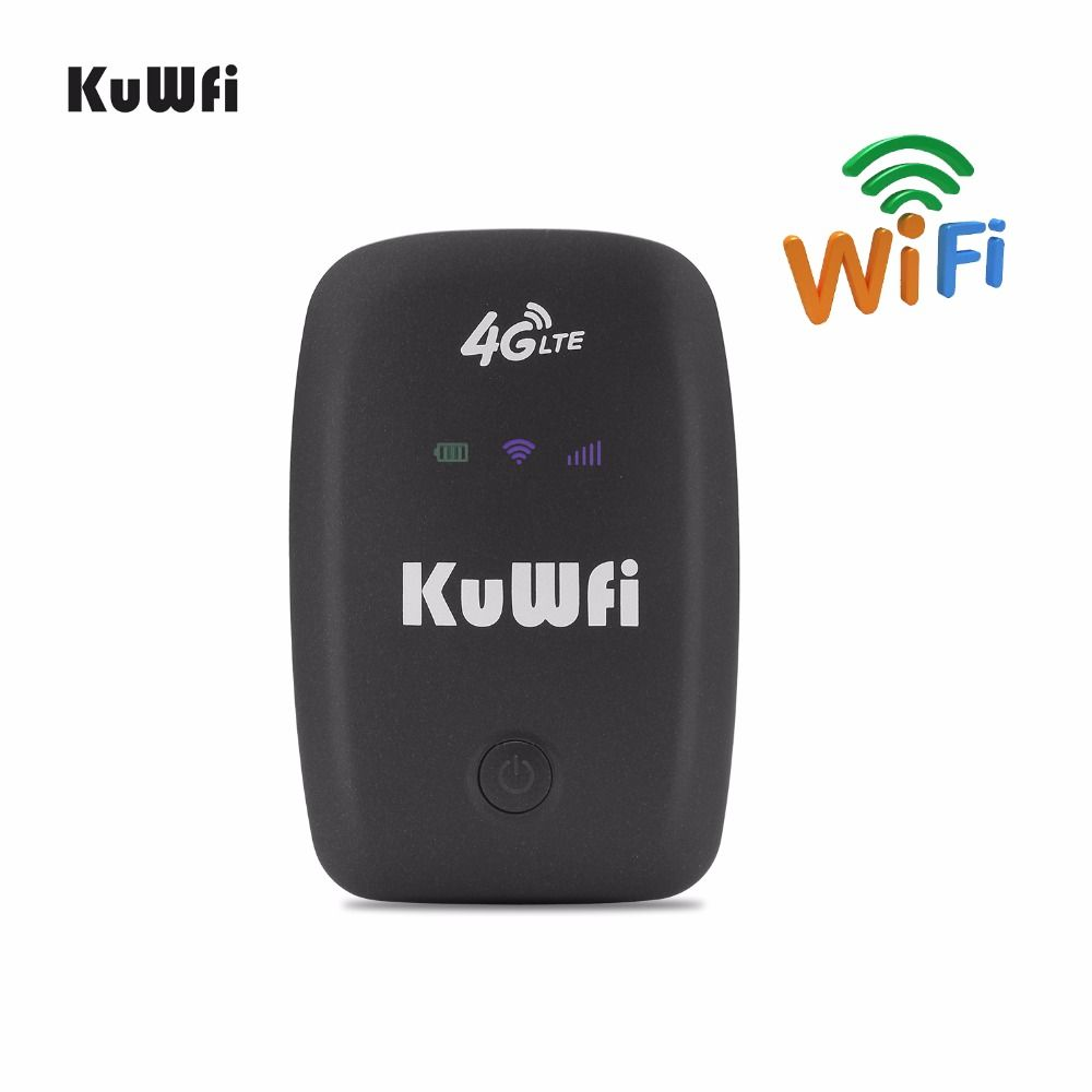 KuWFi LTE Wifi Router 3g 4g Hotspot Entriegelte Mobile Tragbare Wifi Router Tasche Drahtlose Auto Mifi Modem Mit sim Karte Slot