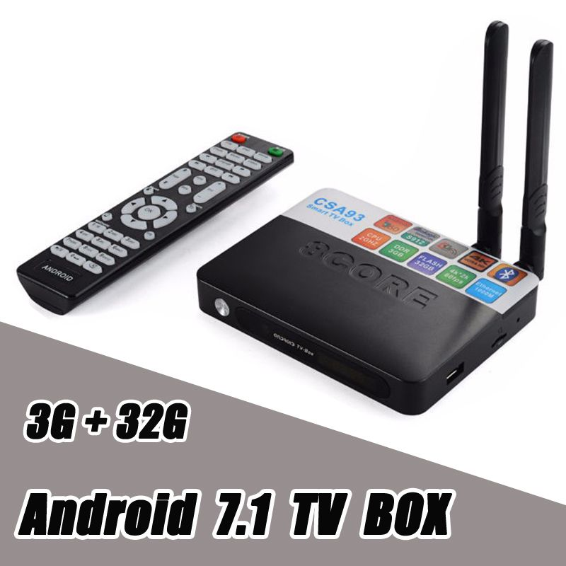 3 GB RAM 32 GB ROM Android 7.1 TV Box CSA93 Amlogic S912 Octa Core 2 GB 16 GB Wifi BT4.0 4 K 1000 M LAN Streaming Smart Media Player