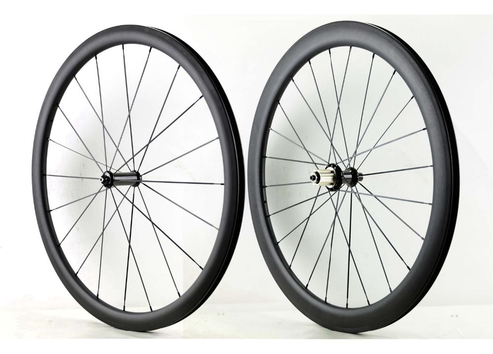700C Front 38mm Rear 50mm depth road carbon wheels 25mm width bike clincher/Tubular carbon fiber wheelset with Powerway R36 hub