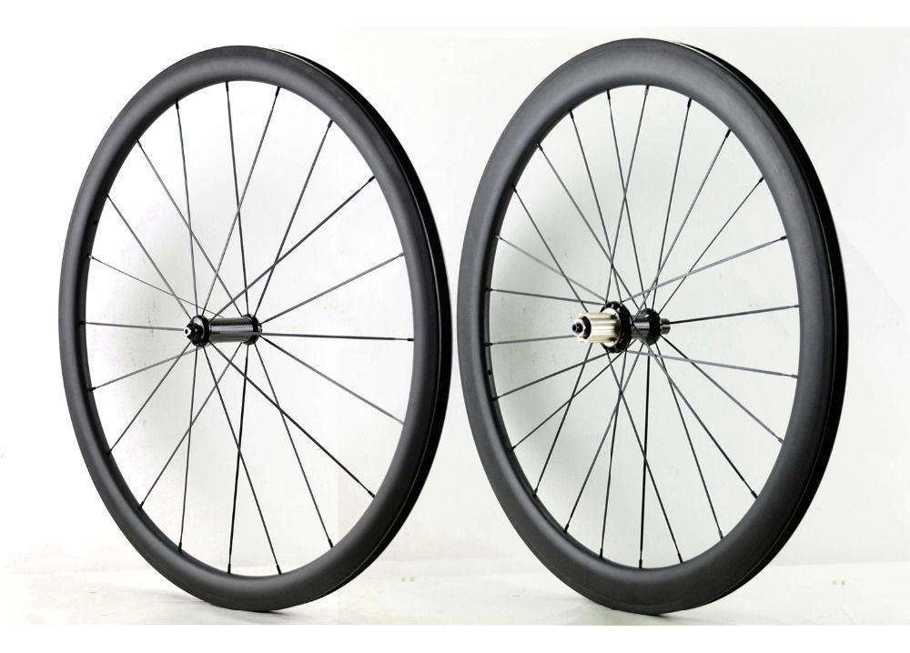 700C Front 38mm Rear 50mm depth road carbon wheels 25mm width bike clincher/Tubular carbon fiber wheelset with Powerway R36 hub