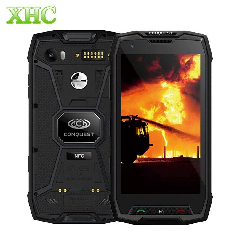 Eroberung S9 6 GB + 128 GB Smartphone 6000 mAh IP68 Wasserdichte Fingerprint ID 5,5 zoll Android 7.1 MTK6757 Octa-core NFC OTG Handy