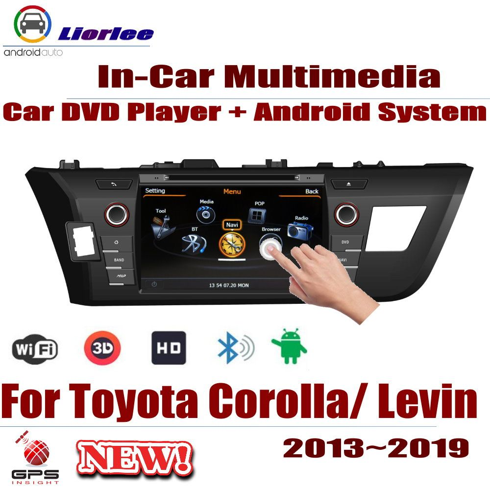 Auto Android System RockChip PX5 1080 P IPS LCD Screen Für Toyota Corolla (E170) /Levin 2013 ~ 2019 DVD Player GPS Navigation