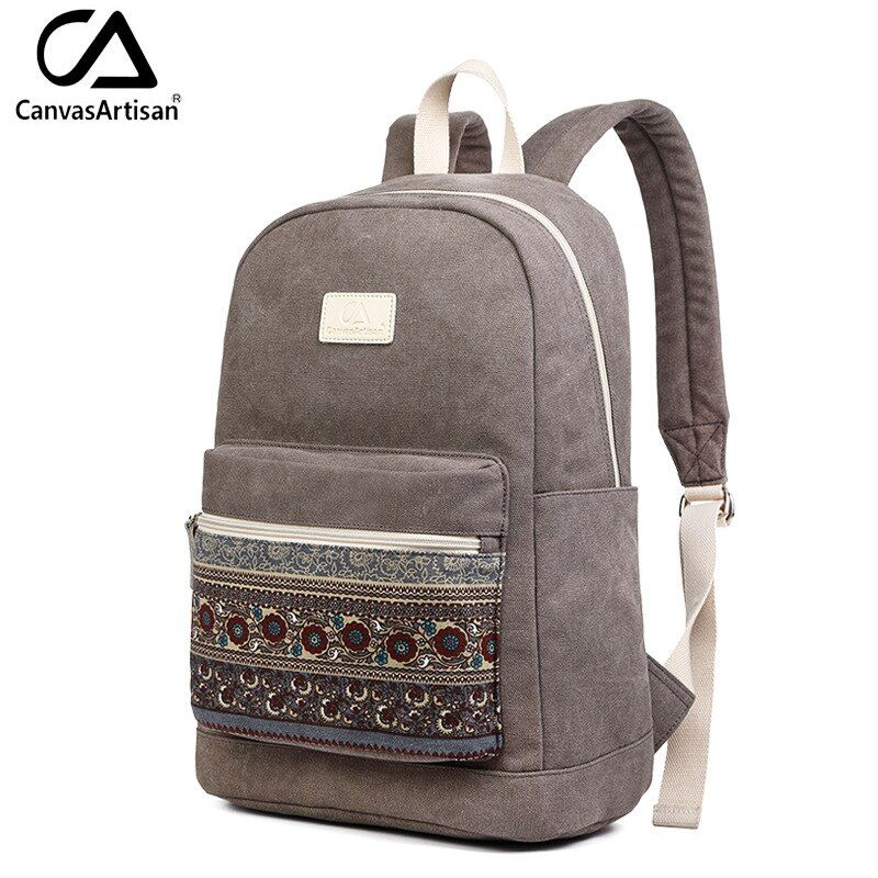 Canvasartisan Brand New Canvas Backpack Bag for Women Vintage Stylish Casual Laptop Travel Backpacks 2 Size 13 inch 15 inch