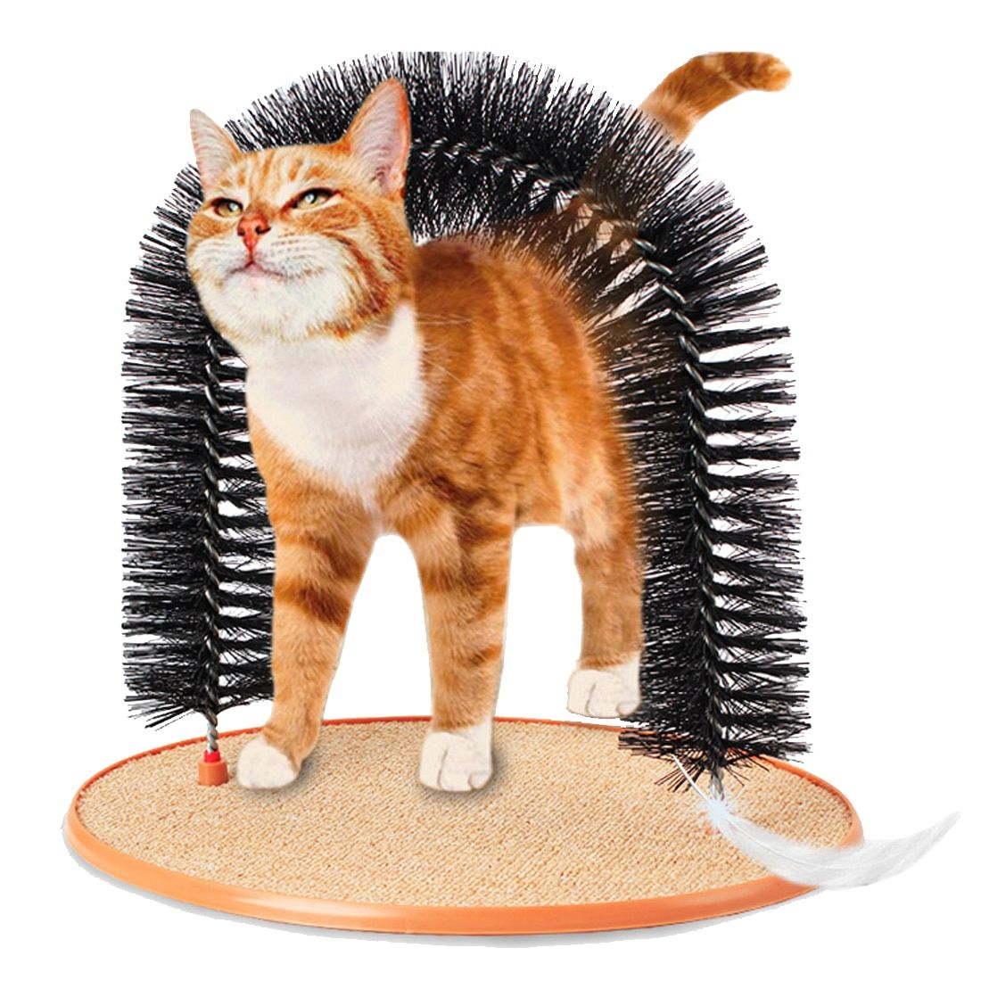 Pet Products Good Arch Pet Cat Self Groomer With Round <font><b>Fleece</b></font> Base Cat Toy Brush Toys For Pets Scratching Devices
