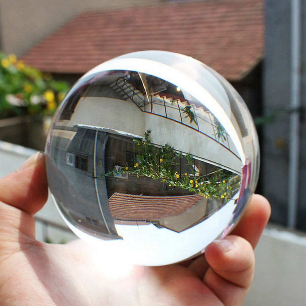 New Arrival 100mm Clear Round Glass Artificial Crystal Healing Ball Sphere Perfect Decoration A Wonderful Gift for All Occasion