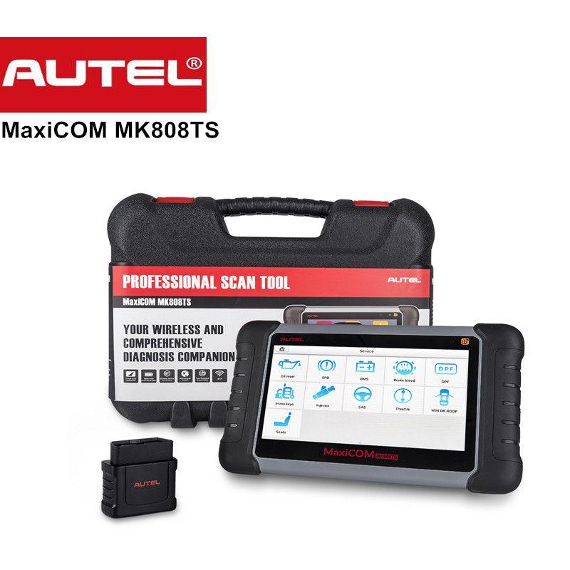 Original Autel MaxiCOM MK808TS OBDII diagnostics Tool with comprehensive TPMS services maxicom mk808 ts Update Online