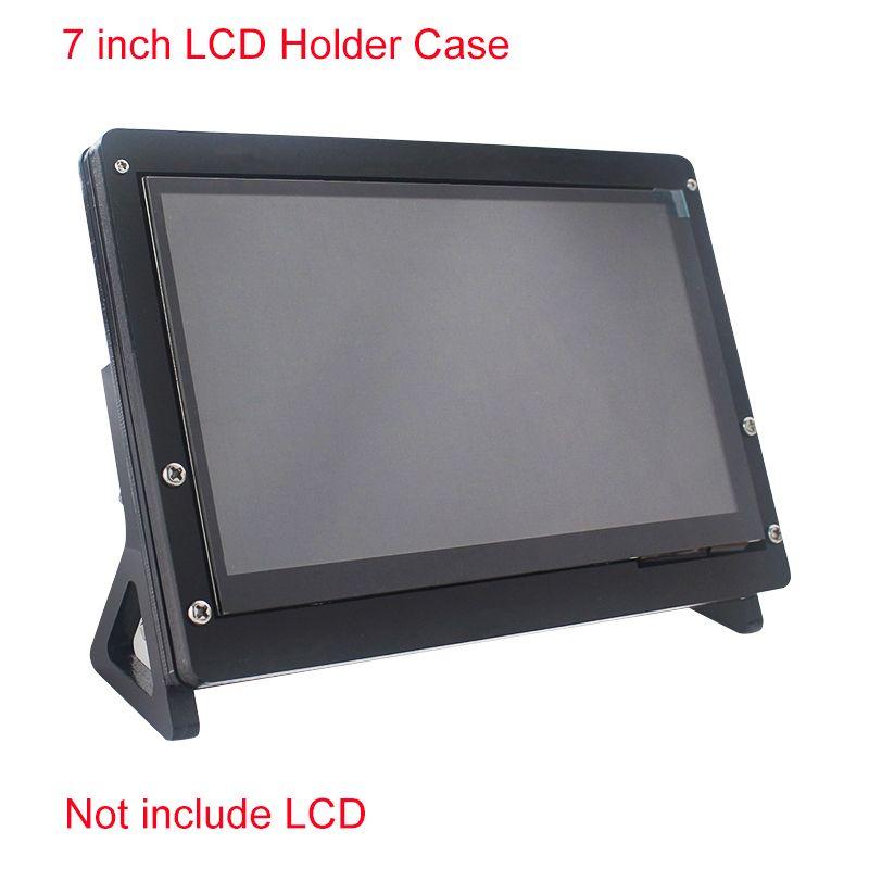 Support de logement d'écran tactile d'affichage à cristaux liquides de 7 pouces pour la framboise Pi 4/3B +/3B support acrylique pour 7 pouces Raspberry Pi LCD 1024*600