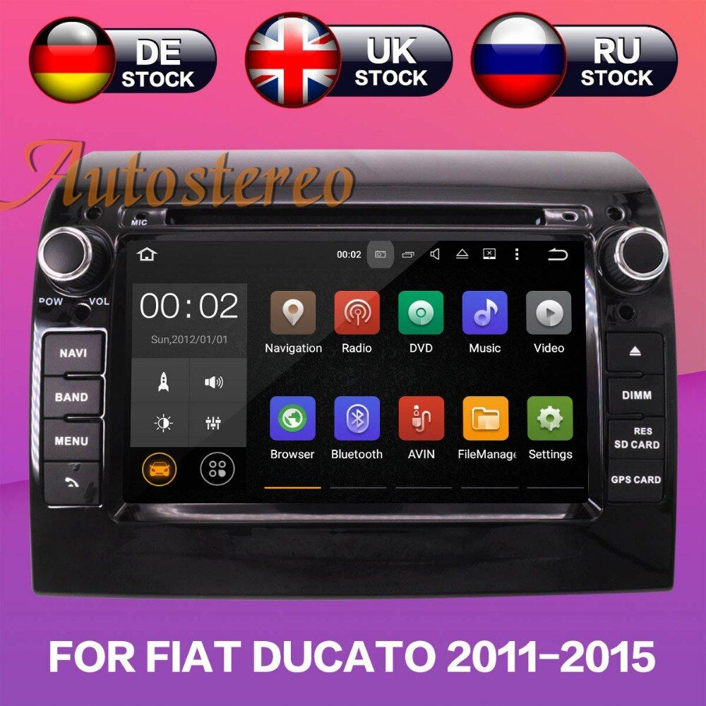 Android 8.1 Car DVD Player GPS Navigation For FIAT DUCATO CITROEN Jumper for PEUGEOT Boxer 2011-2015 multimedia tape recorder HD