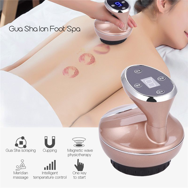 Guasha Suction Scraping Massager Electric Cupping Acupoints Detoxification Massage Skin Care Tool EMS Magnetic Physiotherapy S50
