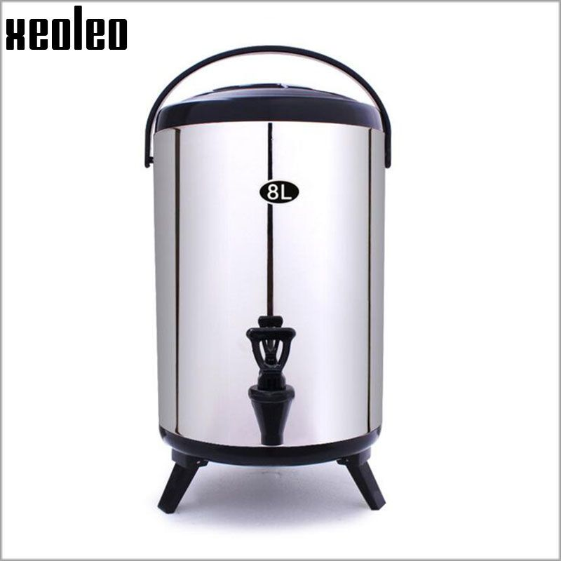 XEOLEO Bubble tea Buckets 8L Stainless steel Insulation barrel keep Temperature from -30 to 150 degree for about 4 hours 4 Color