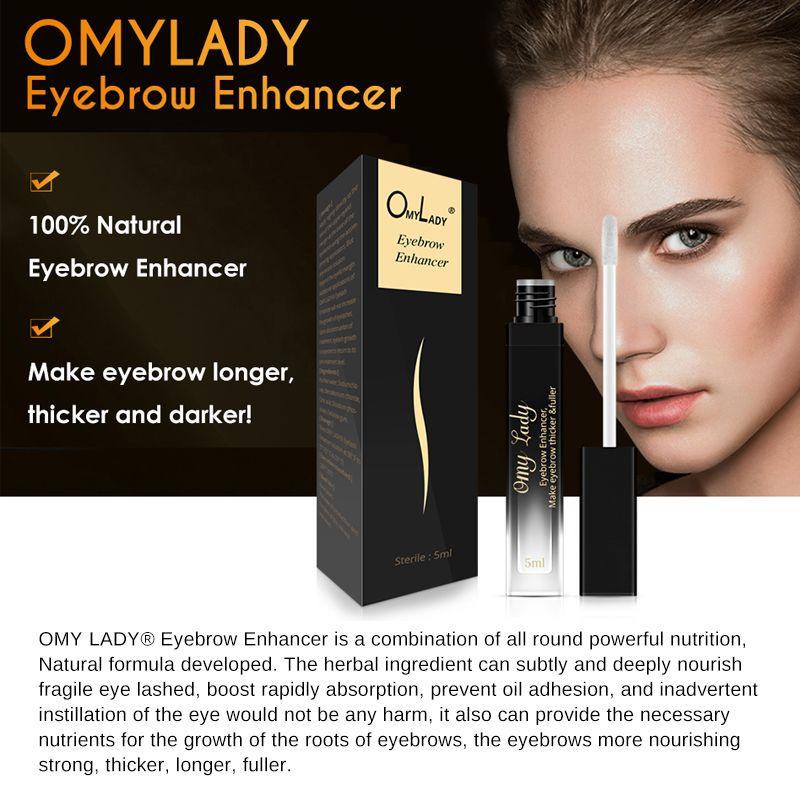 OMYLADY Anlage Augenbraue Wimpern Enhancer Flüssigkeit Anlage Serum Mehr Fuller Dicker Nährt Schnelle Leistungsstarke Haar Wachstum für Make-Up