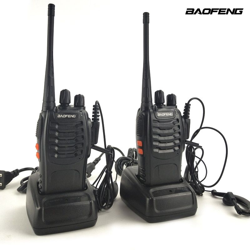 2pcs/Lot Baofeng BF-888S UHF 400-470MHz Mini Portable Two-way radio Transceiver Baofeng BF 888S Walkie-Talkie for ham,hotel