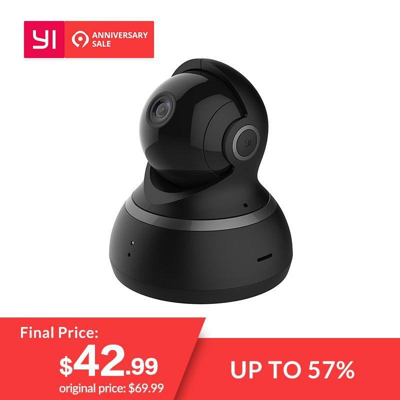 YI caméra dôme 1080 P Pan/Tilt/Zoom Sans Fil IP de Sécurité Système de Surveillance Complet 360 Degrés Couverture vision nocturne Noir