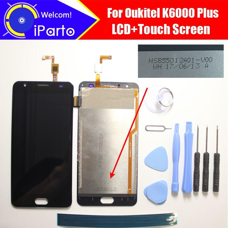 Oukitel K6000 Plus LCD Display + TouchScreen NSB55012A01-V00 100% Original Getestet Digitizer Glasscheibe Ersatz Für K6000 Plus