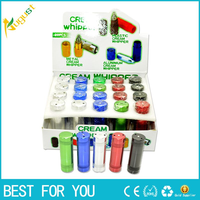 12pcs/lot 2015 New Laughing gas cream whipper wholesale whipper Nitrous Aluminum cracker Free shipping