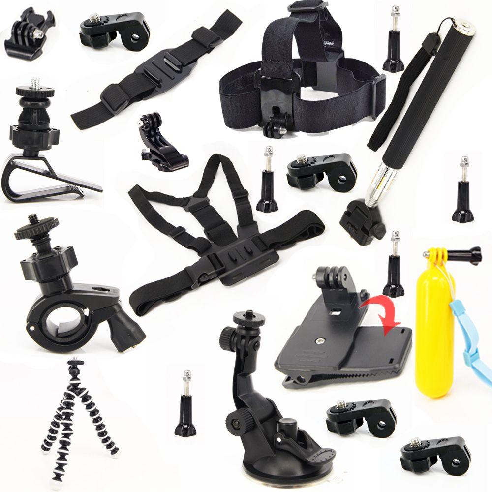 Kit De Voyage Jeu Professionnel Accessoires Bundle Kit pour Sony HDR-AS30V HDR-AS100V AS200V AS20V X1000V Sony Action Cam
