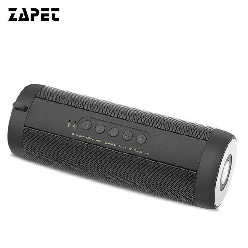 ZAPET Original T2 Bluetooth waterproof wireless Speaker Amplifier Stereo Outdoor Portable 1800MA HIFI Speakers Wholesale