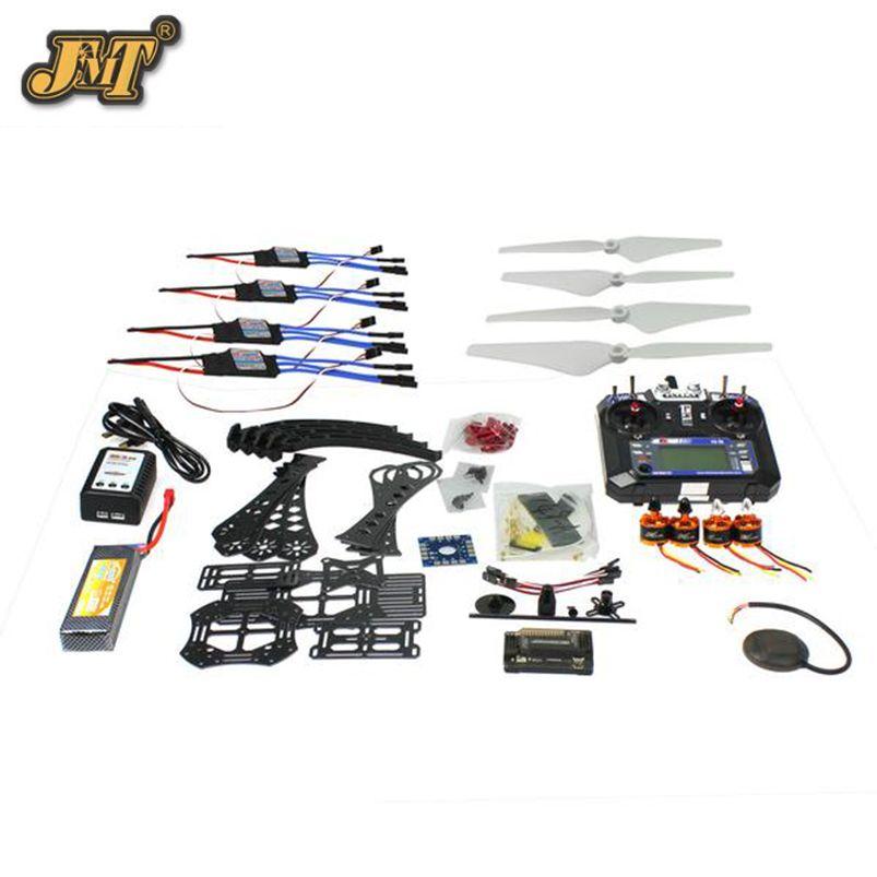JMT DIY RC Drone Quadrocopter Full Set RTF X4M380L Frame Kit APM 2.8 GPS TX
