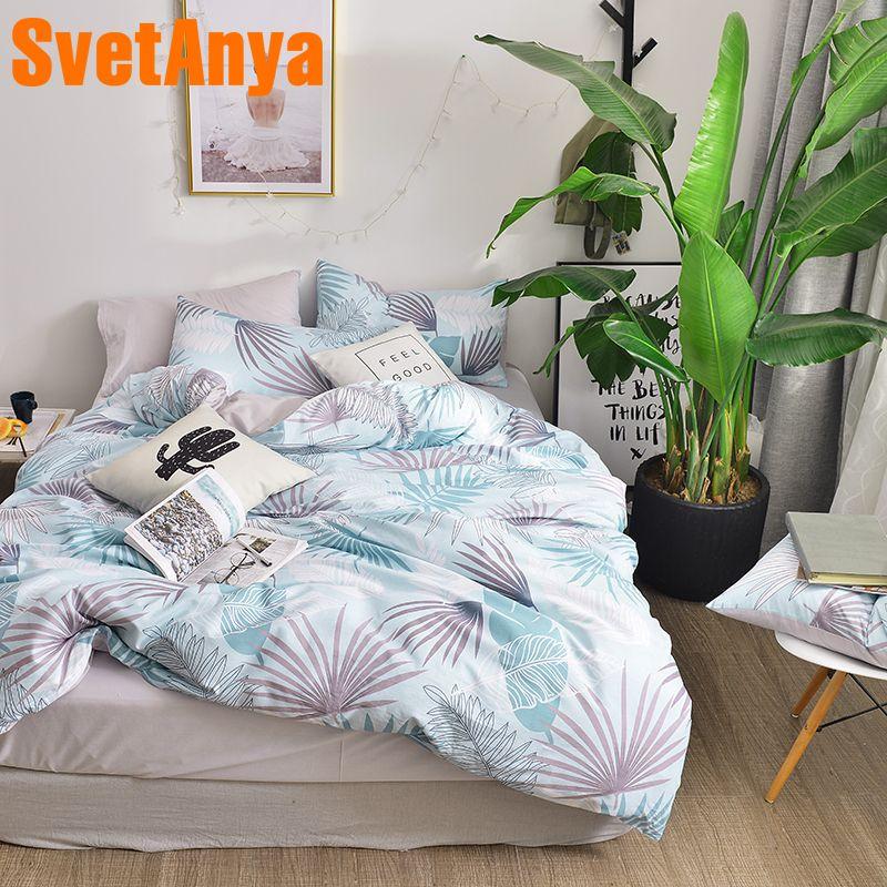 Svetanya China Cotton Bedding Set Sheet Pillowcase Duvet Cover Set Full Double Queen Size Fashion Printing