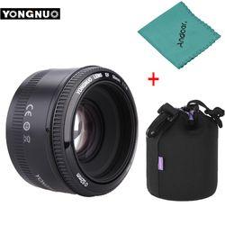 YONGNUO YN50mm f1.8 YN EF 50mm f/1,8 lente AF YN50 enfoque automático para Canon EOS 60D 70D 5D2 5D3 600d cámaras Canon DSLR