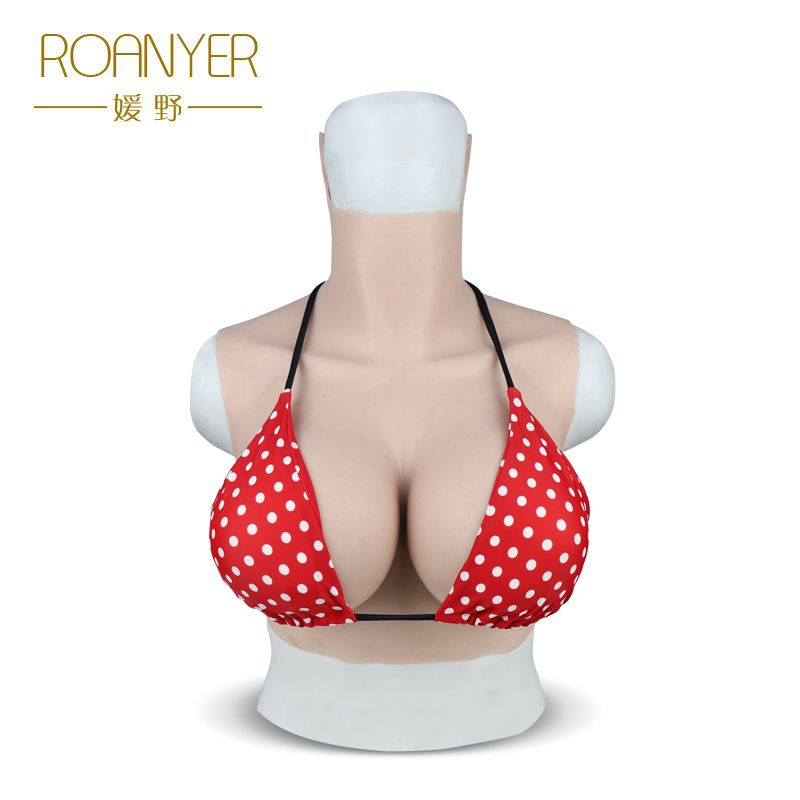 Roanyer silicone large fake Boobs G Cup for transgender shemale False pechos crossdresser breast forms drag queen men to female