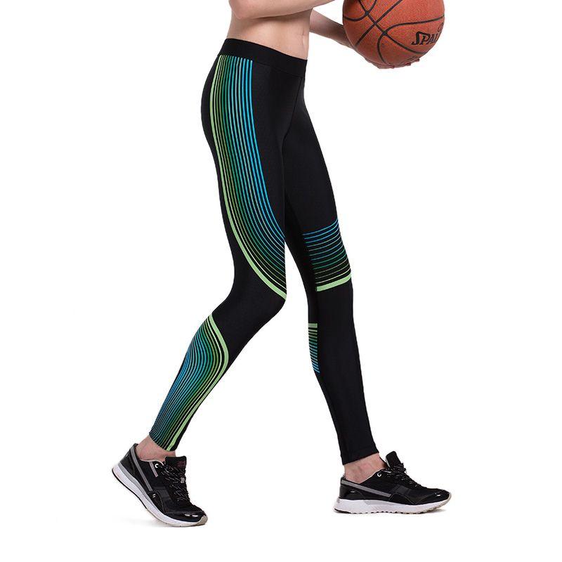 2017 Top Ajustado de Las Mujeres Deportes De Yoga Deportivo Leggings Arriba Elástico Correr Entrenamiento de Baloncesto Gimnasio Jogging GIMNASIO MMA Pantalones Largos