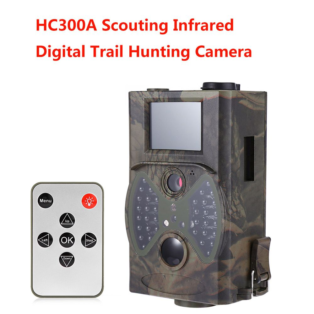 Hunting Camera Scouting HD 1080P 8MP Digital Infrared Trail Cameras HC300A Day Night Vision Outdoor Hunter Cam