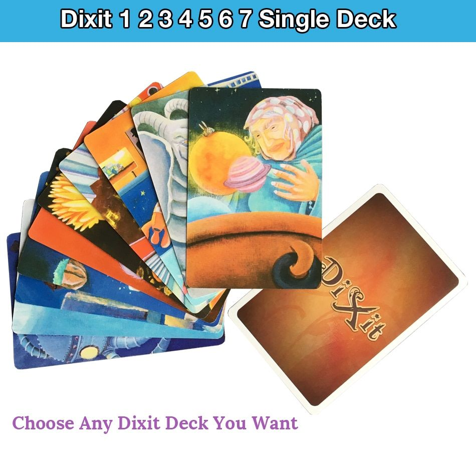 High Quality Dixit 1 2 3 4 5 6 7 single deck cards game original back for party board game playing cards