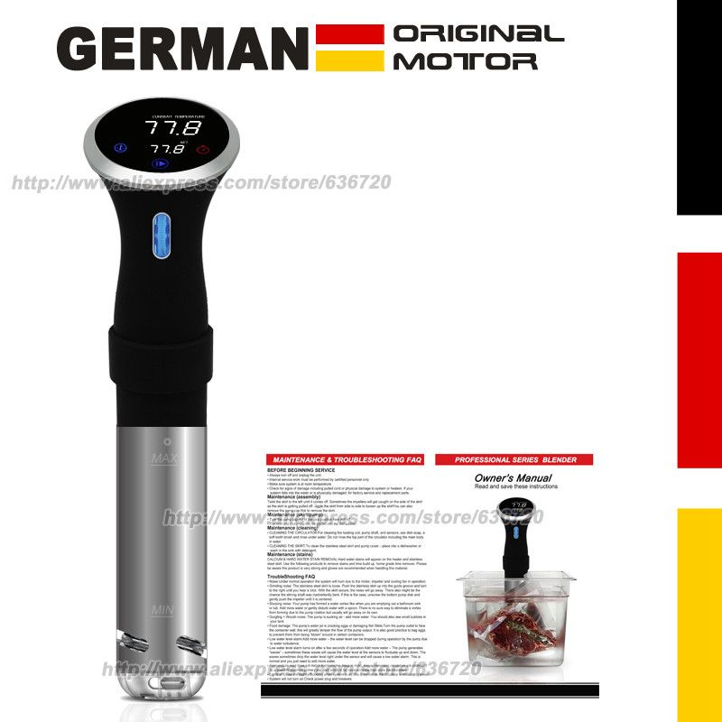 German original motor technology. 1000 Watts CS10001 Precision cooks Food sous vide cooking machine / Precision Sous Vide Cooker