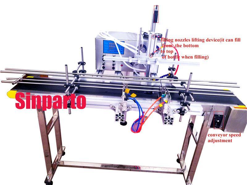 Magnetische pumpe flasche wasser füllstoff voll-automatische aceton füll maschine mit 4 köpfe automatische saft speiseöl dosierung maschine