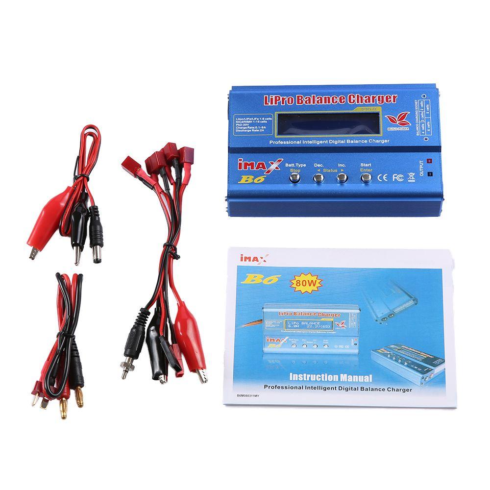 Newest Build-Power 80W iMAX B6 Lipro NiMh Li-ion Ni-Cd RC lithium Battery Balance Digital Charger Discharger
